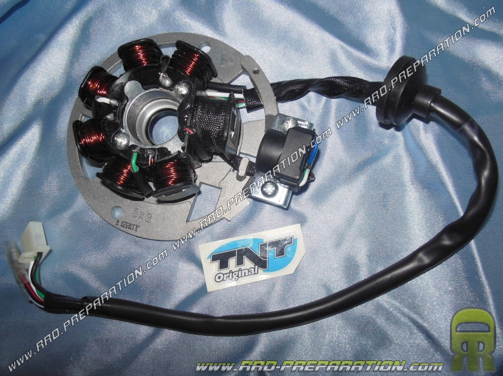 Stator complete TNT Moose spark scooter engine origin 50cc 2-stroke GY6  Chinese 1PE40QMB     - www rrd-preparation com