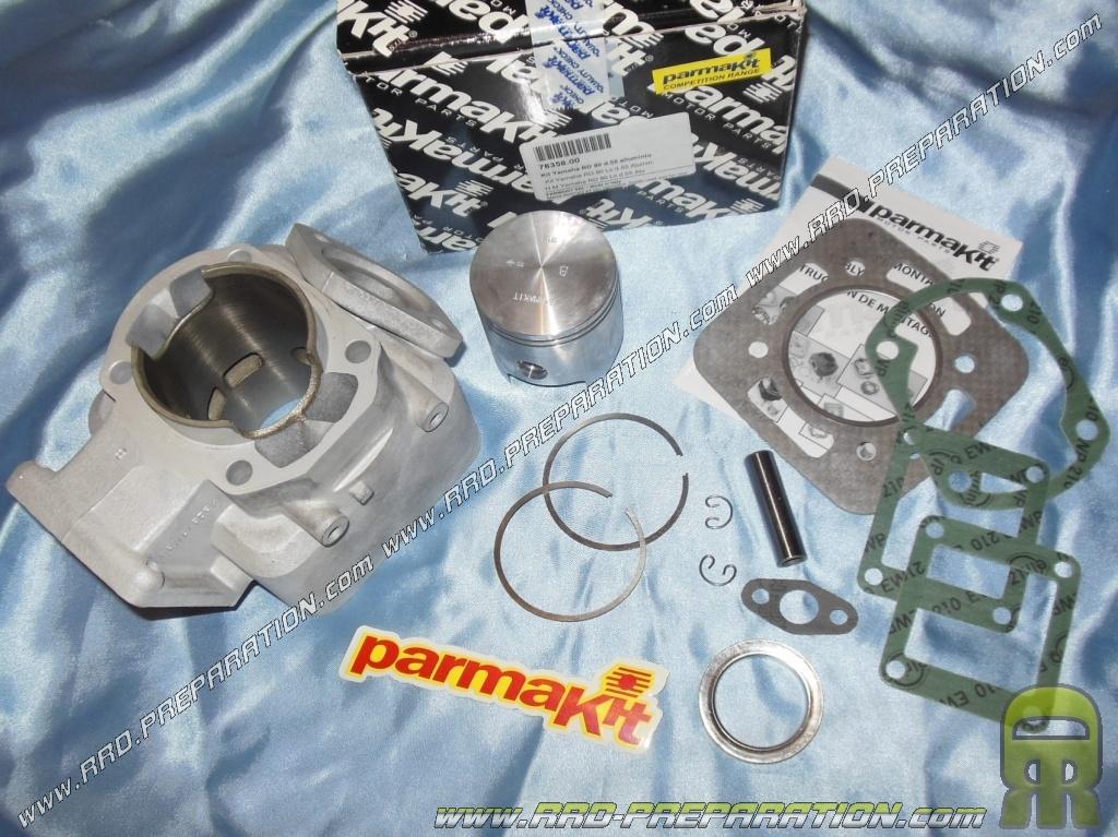 Kit 100cc Ø55mm PARMAKIT aluminum motorcycle YAMAHA DT, TZR, RD and YSR  80cc LC liquid cooling - www rrd-preparation com
