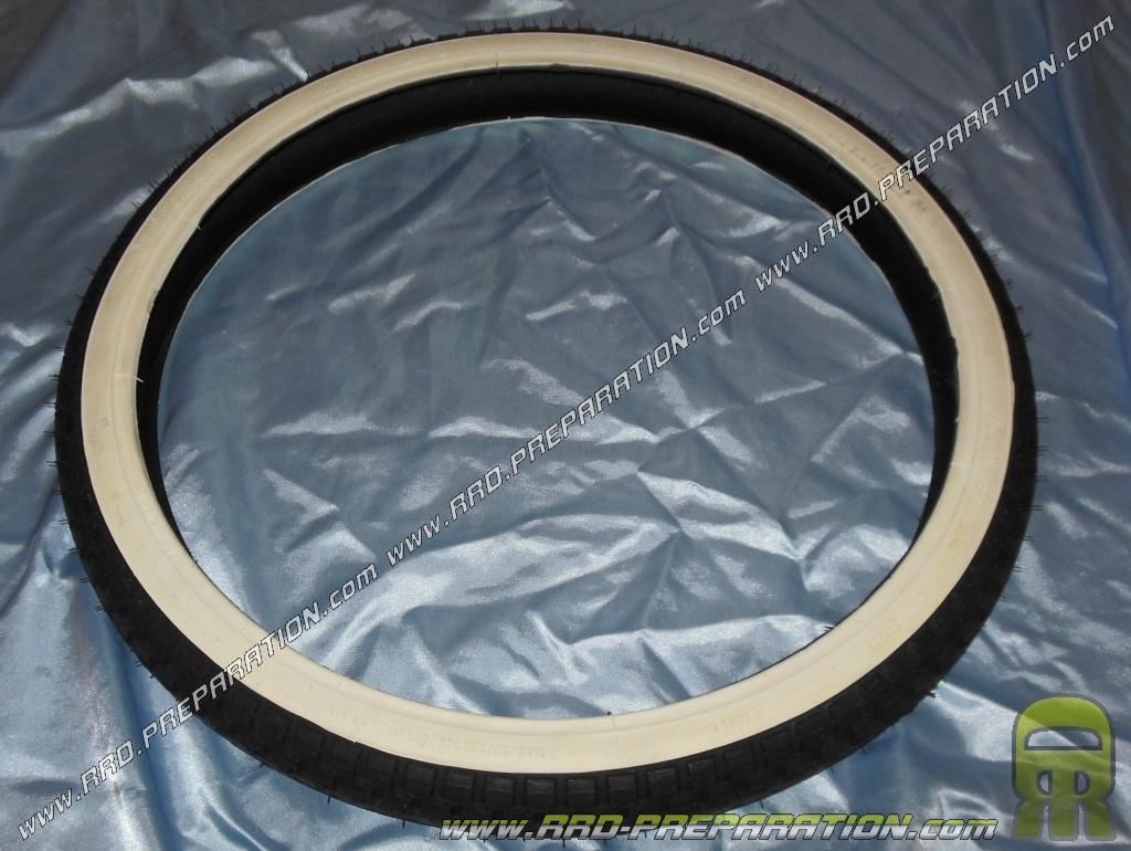 pneu continental 2 x 19 pouces kks 10 tt flanc blanc pour cyclomoteur mobylette motobecane. Black Bedroom Furniture Sets. Home Design Ideas