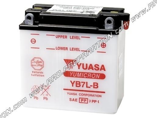 Batterie yuasa yb7l b 12v 8ah acide avec entretien pour - Acide pour batterie ...