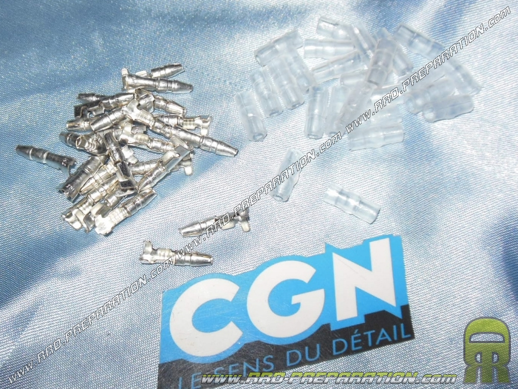 Boite De 25 Cosses 3 5 Femelles Cylindriques Cgn Pour Fil Electrique Www Rrd Preparation Com
