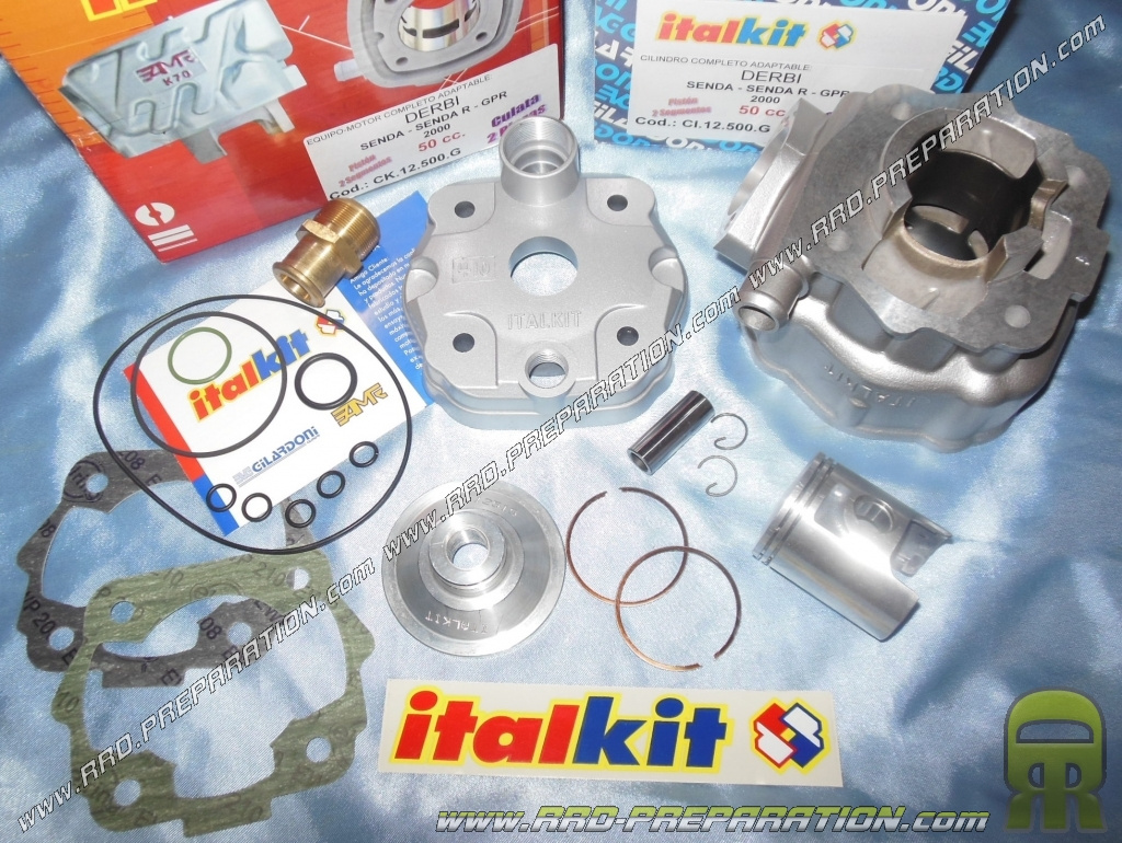 Kit ALU cylindre haut moteur EURO3 DERBY DRD GPR SMT 50