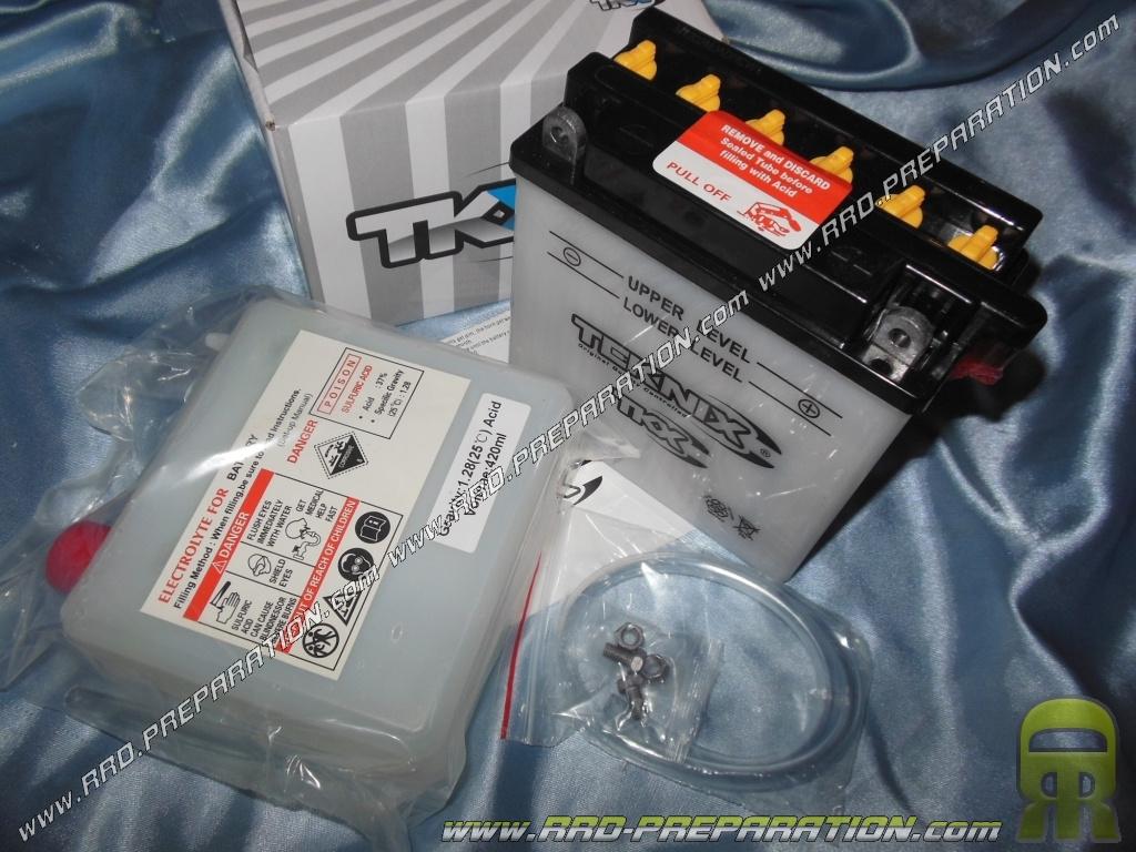 Batterie teknix yb5l b 12v 5ah acide avec entretien pour - Acide pour batterie ...