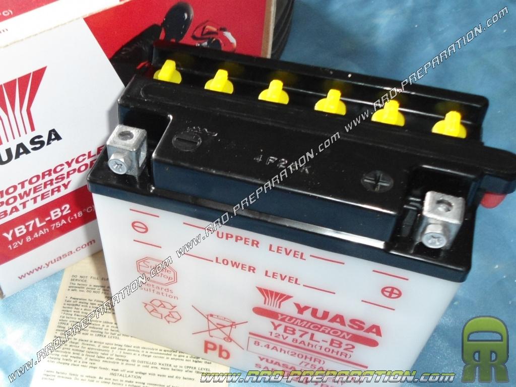 Batterie yuasa yb7l b2 12v 8ah acide avec entretien pour - Acide pour batterie ...