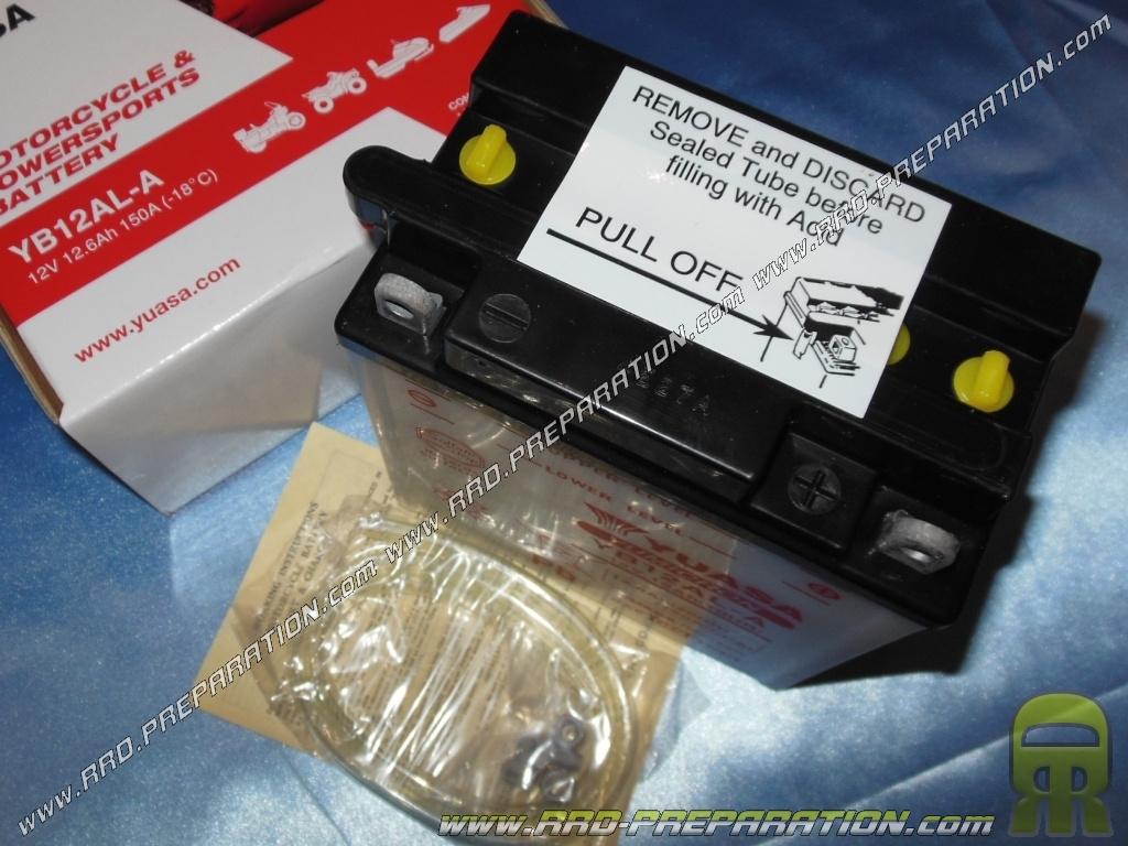 Batterie yuasa yb12al a 12v 12ah acide avec entretien - Acide pour batterie ...