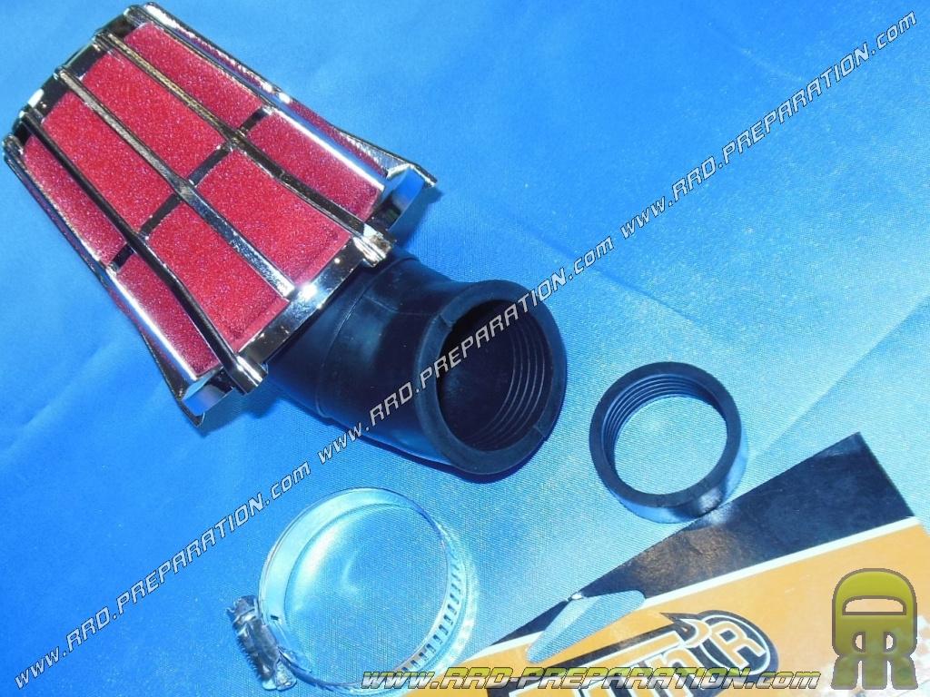 filtre air cornet tun 39 r hexagonal angle variable chrome. Black Bedroom Furniture Sets. Home Design Ideas