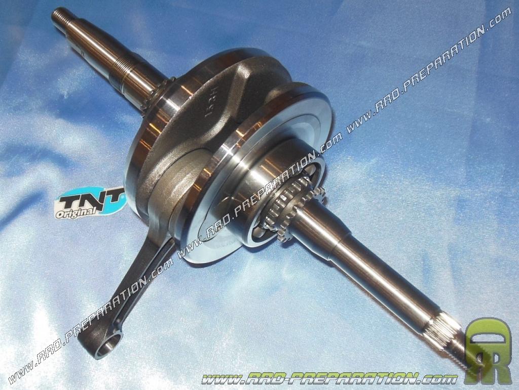 Crankshaft, connecting rod assembly TNT Original for Chinese maxi-scooter  engine 152QMI GY6 125cc 4 stroke - www rrd-preparation com