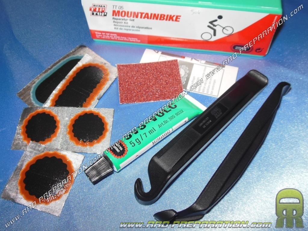 Kit de reparation tip top tt05 pour vtt a chambre air for Chambre a air pour glisser
