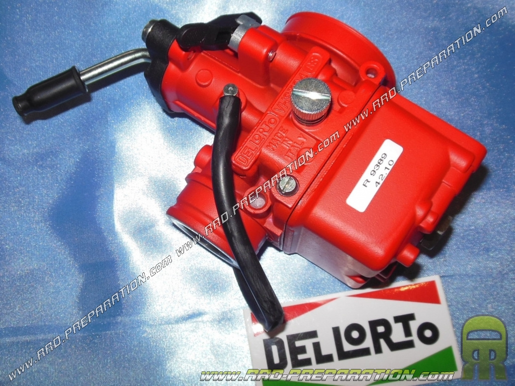 Carburettor DELLORTO VHST 24 BS Racing Red Edition Soft starter without  separate greasing nor depression lever - www rrd-preparation com
