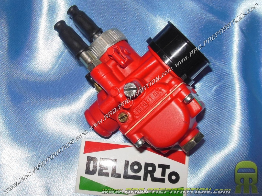 Carburettor DELLORTO PHBG 21 DS RACING RED EDITION flexible, with separate  greasing, choke cable, depression - www rrd-preparation com