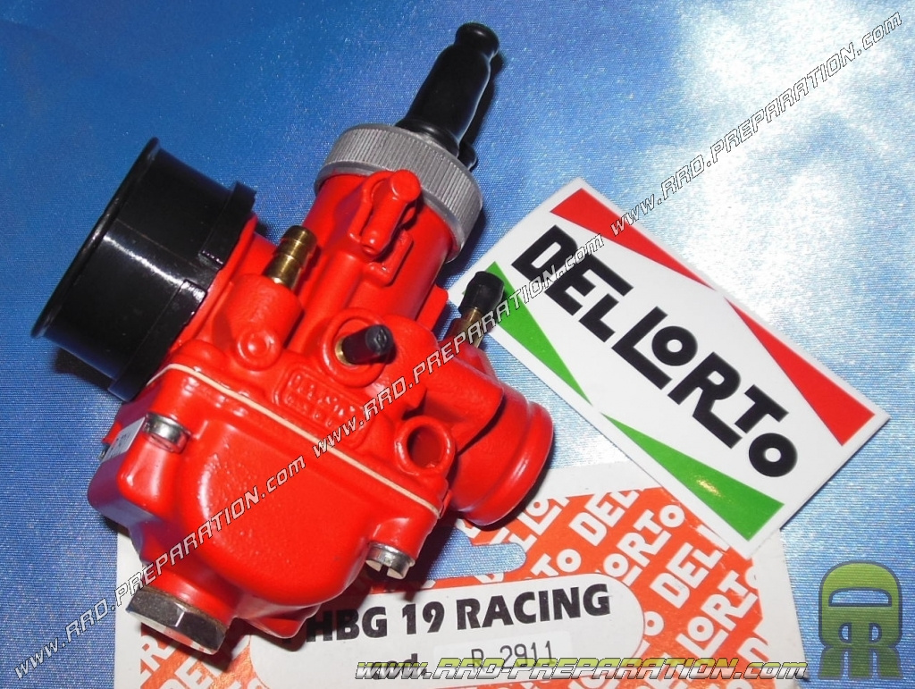Carburettor DELLORTO PHBG 19 DS RACING RED EDITION flexible, with separate  greasing, choke cable, depression - www rrd-preparation com