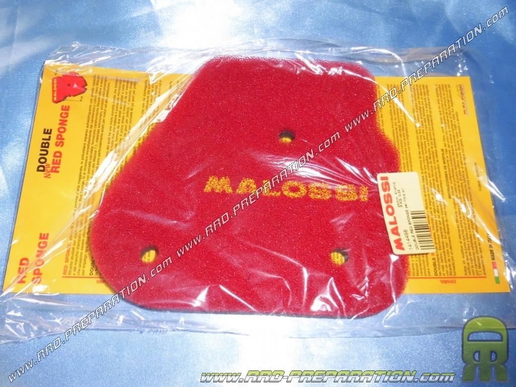 foam air filter malossi double red sponge for airbox horizontal origin scooter minarelli nitro. Black Bedroom Furniture Sets. Home Design Ideas