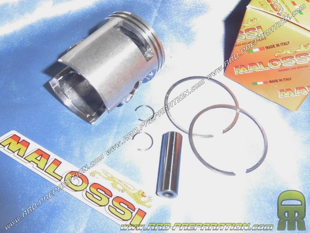 Piston Ø43mm bi-segment and side reaming axis 10mm for kit 65cc MALOSSI CVF  Fonte on PIAGGIO ciao