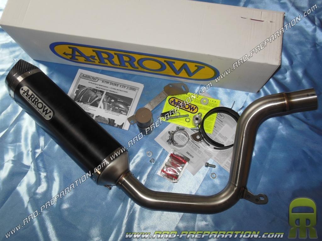 muffler arrow racing for ktm duke 2011 to 2014 125cc 200cc 4 stroke www rrd preparation