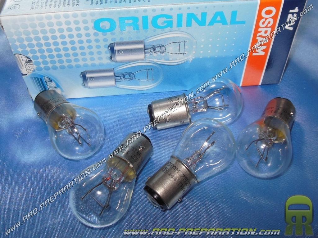 21 Osram Transparente Rrd A De Clips 12v Bay15d Feu StopLampe Arrière Ampoule 5w Phare fybgY76v