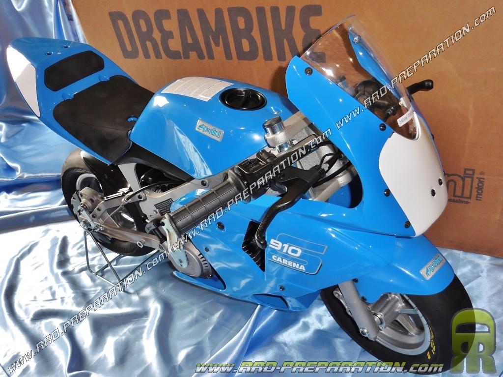pocket bike mini moto polini 910 carena s air 4 2 hp grandes roues 6 5 bleu. Black Bedroom Furniture Sets. Home Design Ideas