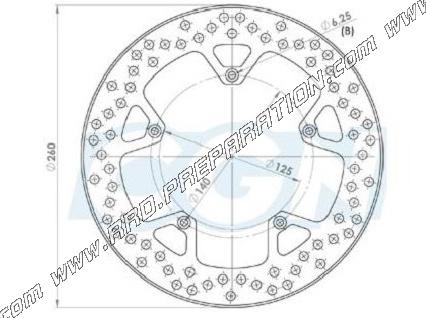 Front And Rear Brake Disc 260mm Ng For Gilera Nexus Piaggio