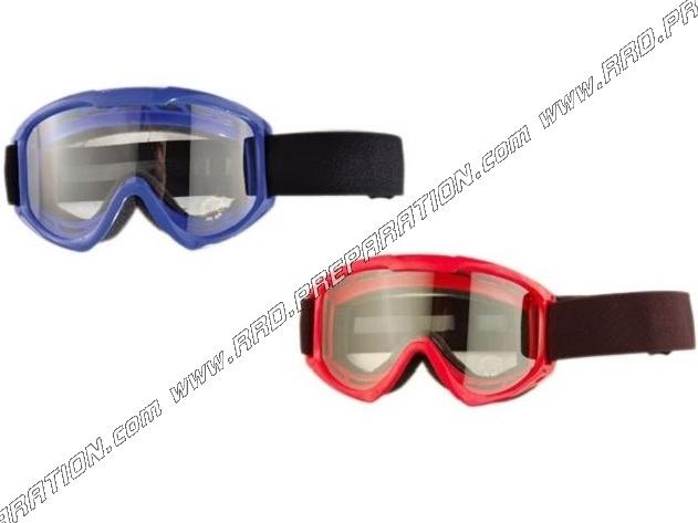 lunettes moto cross cgn racing bleu ou rouge au choix. Black Bedroom Furniture Sets. Home Design Ideas