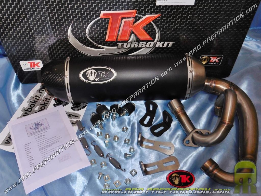 Ligne de pot d'échappement TURBO KIT TK OVALE H2 pour BUGGY KINROAD, RACER,  XT, SAHARA    250cc - www rrd-preparation com