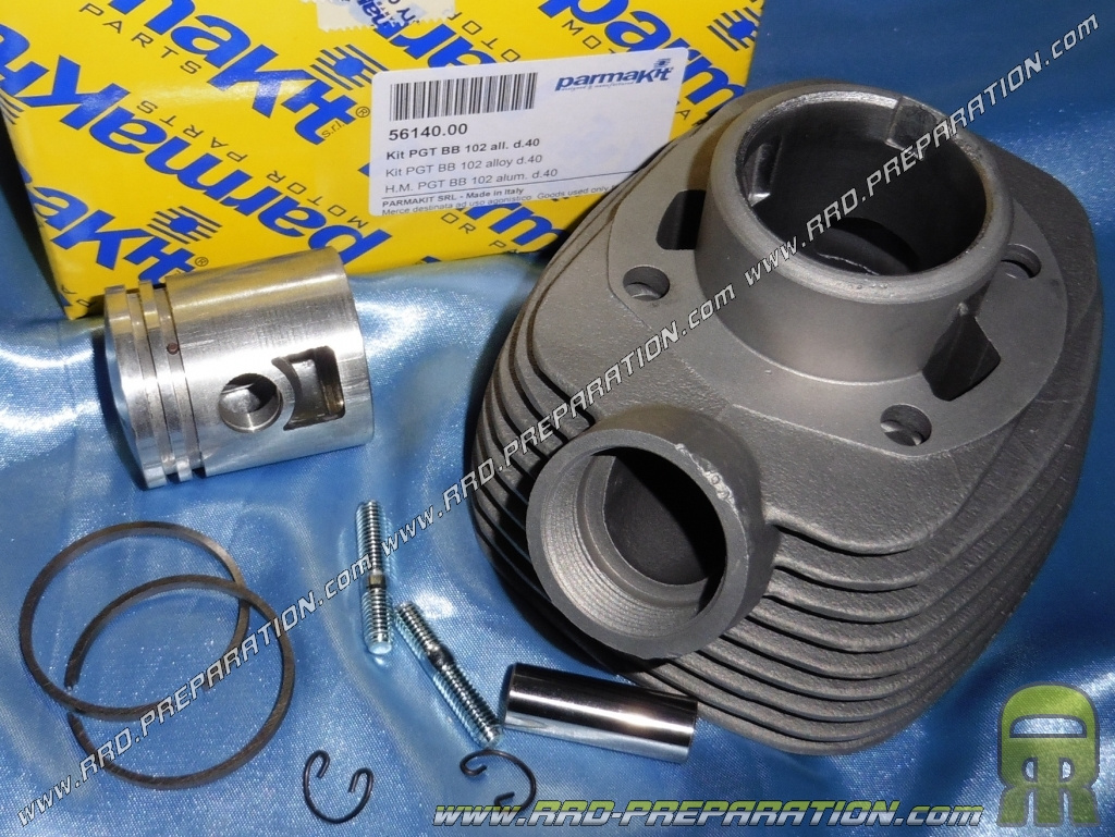 Kit 50cc aluminum PARMAKIT PEUGOT BB air, 102, CT, RS, RALLY, .