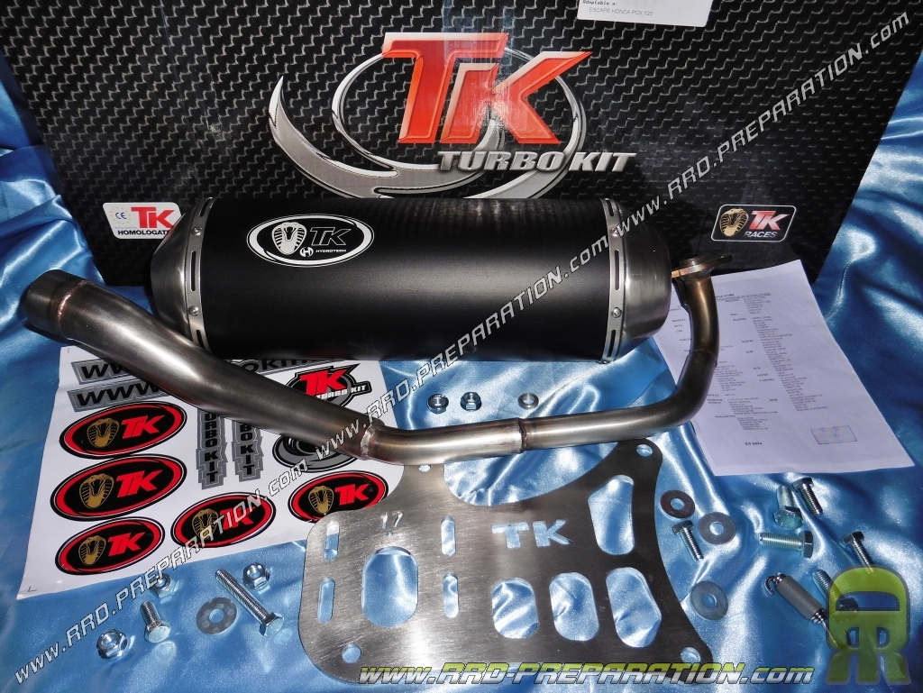 exhaust turbo kit tk maxi scooter honda pcx 125cc before 2012. Black Bedroom Furniture Sets. Home Design Ideas