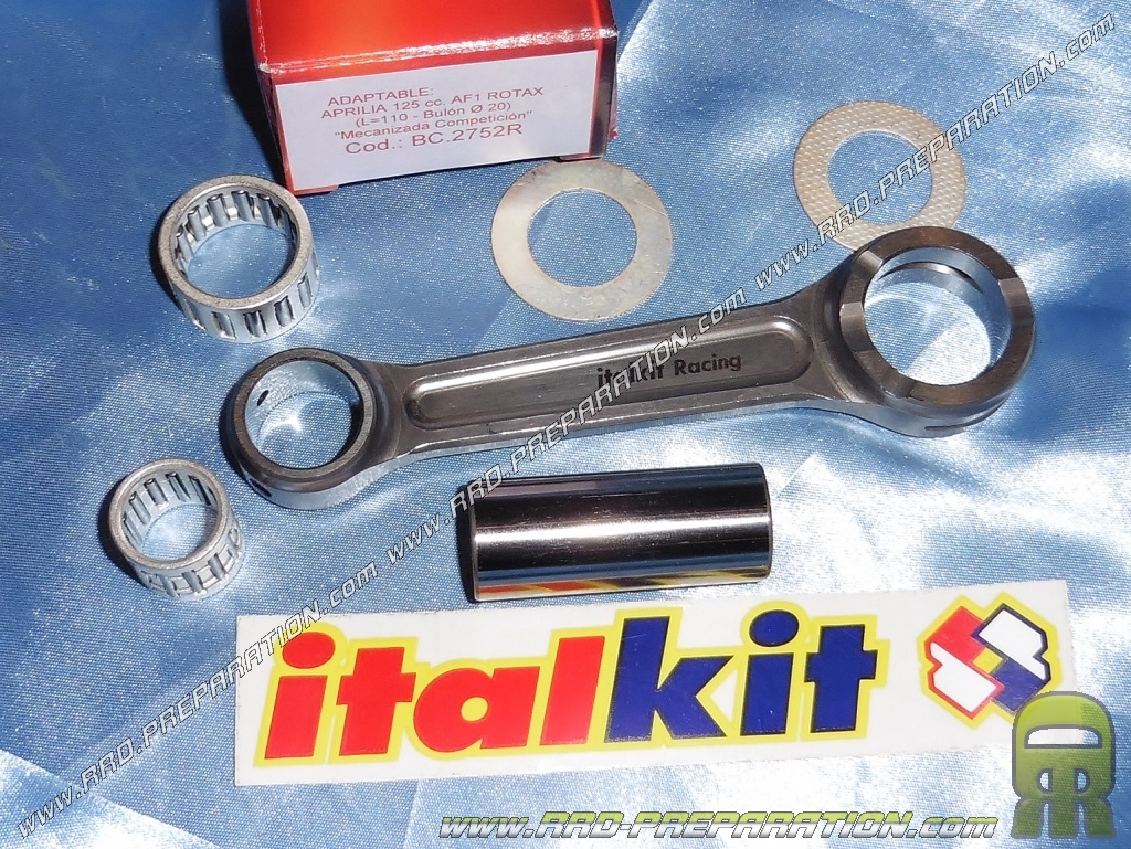 ITALKIT machined forged connecting rod reinforced Competition (110mm length, Ø20mm crank pin ...