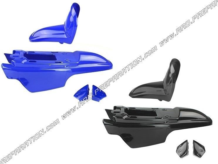 kit body fairing 4 pieces for yamaha pw 50 blue or black. Black Bedroom Furniture Sets. Home Design Ideas