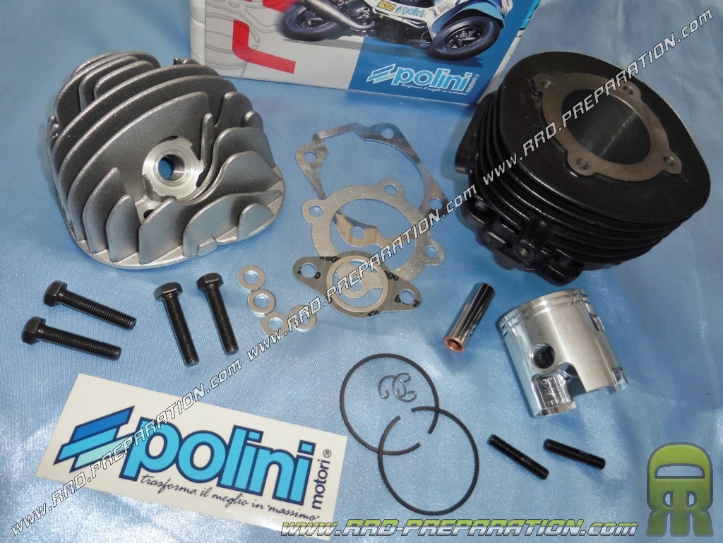 Kit high engine Ø47mm 75cc POLINI RACING cast iron 6 transfers for scooter  VESPA 50cc 2T PK, HP, XL, SPECIAL, PIAGGIO APE