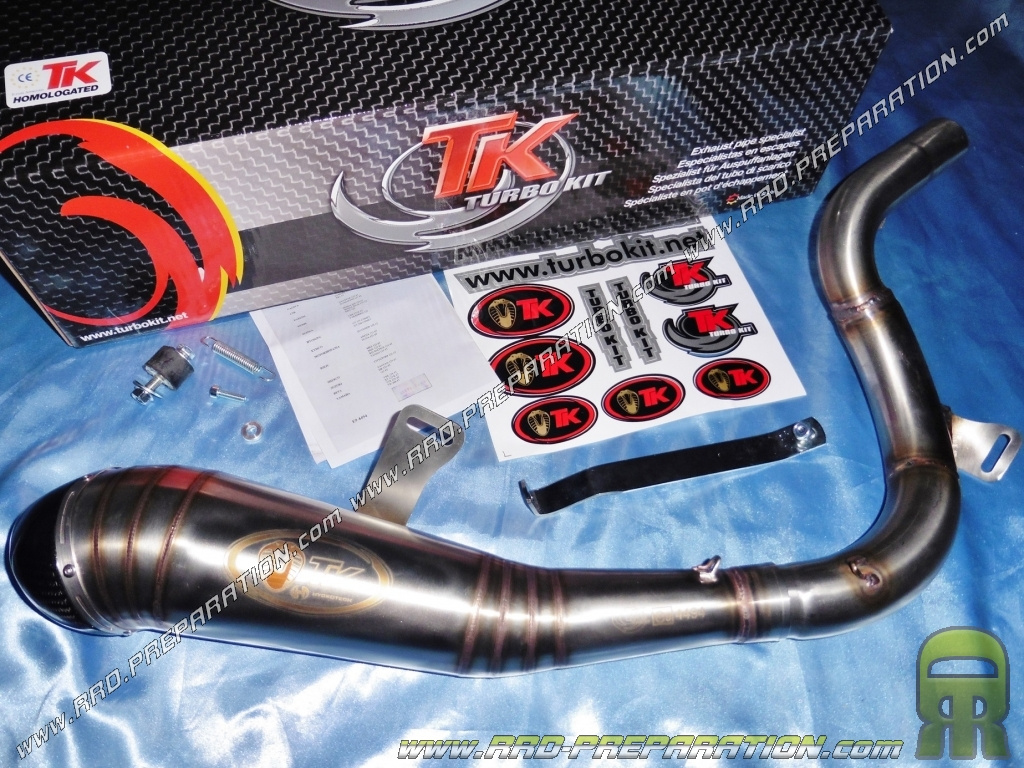 pot d 39 chappement turbokit tk gp h3 pour ktm duke 125 et 200cc 4t de 2011 a 2016. Black Bedroom Furniture Sets. Home Design Ideas