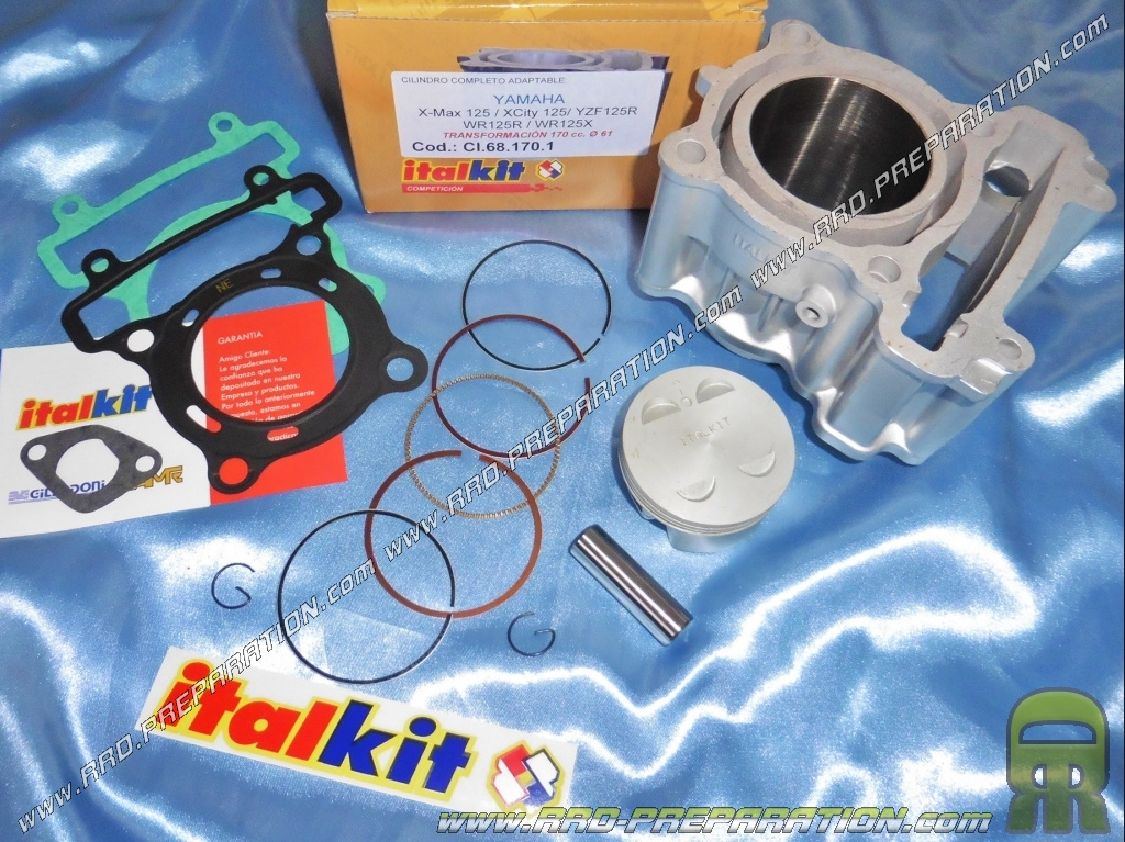 kit 180cc italkit 61mm cylinder piston for yamaha x city x max yzf wr mbk cityliner hm. Black Bedroom Furniture Sets. Home Design Ideas