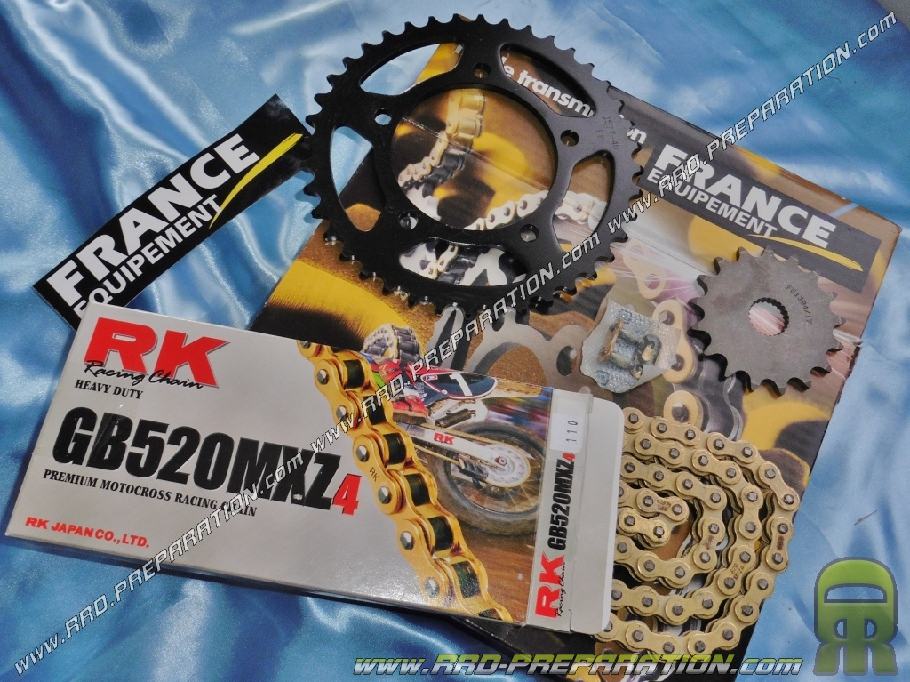 kit chaine france equipement renforc pour moto aprilia rs 125cc de 2011 2014. Black Bedroom Furniture Sets. Home Design Ideas