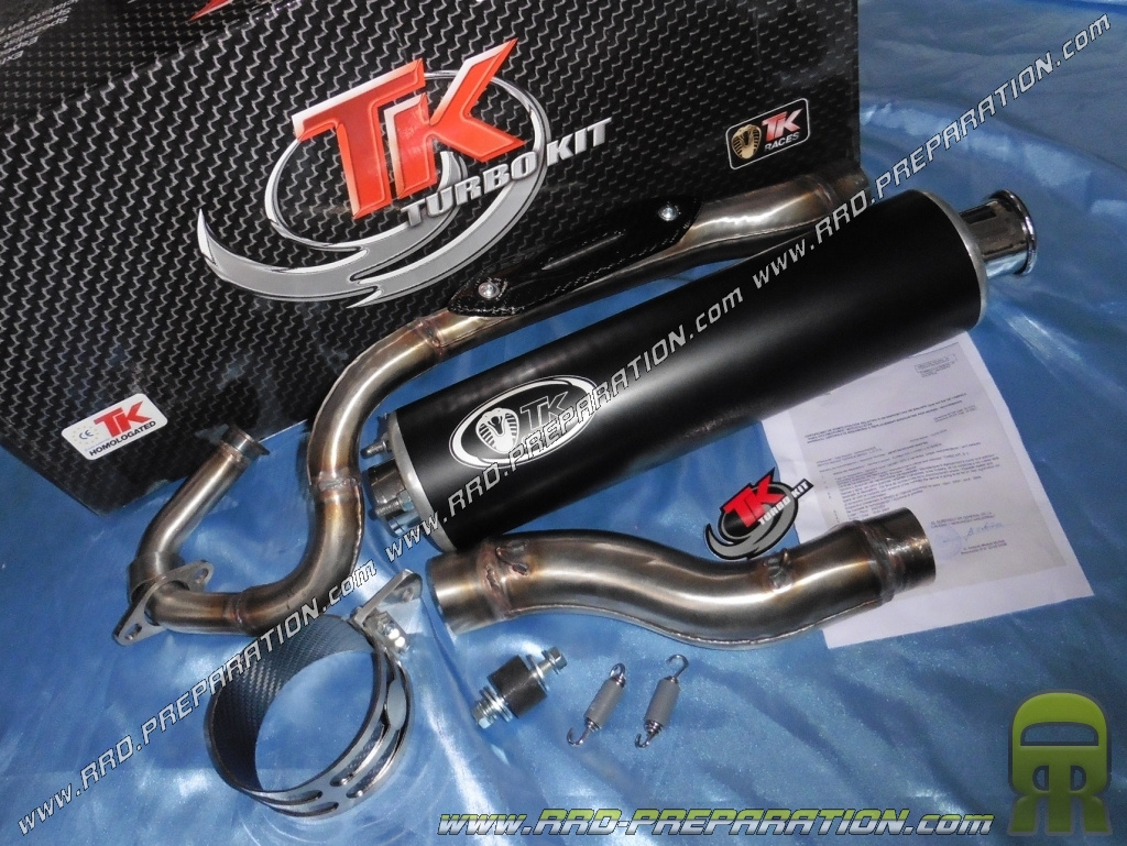 exhaust line turbo kit quad 4t round tk for kymco mxu 150cc and mxer. Black Bedroom Furniture Sets. Home Design Ideas