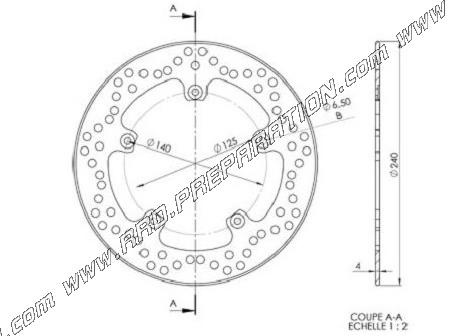 Front And Rear Brake Disc 240mm Ng For Gilera Dna Nexus Renner