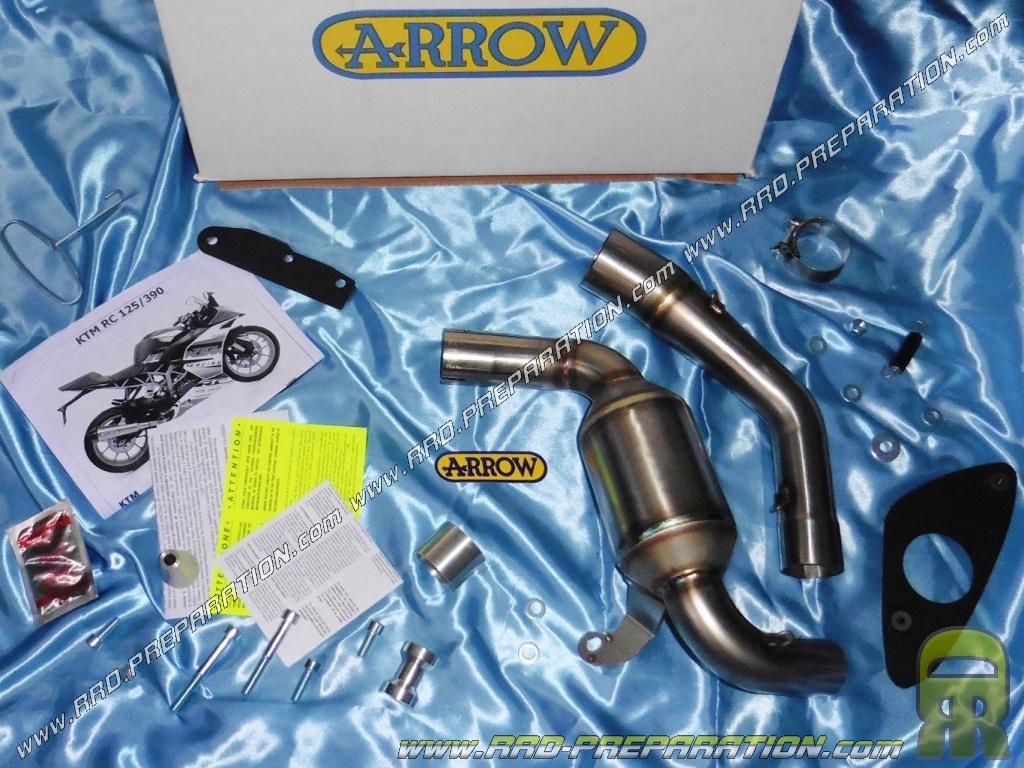 collecteur racing arrow inox avec ou sans catalyseur pour moto ktm rc 125 et 390 4t. Black Bedroom Furniture Sets. Home Design Ideas