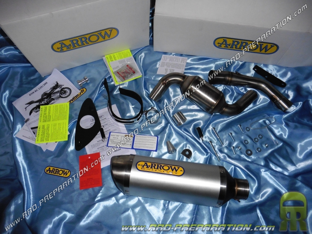 exhaust arrow racing for ktm rc 125 and 390 4t
