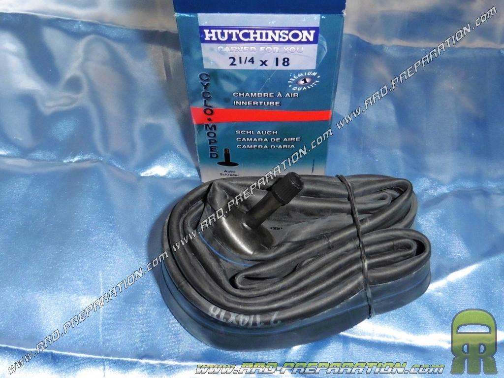 Chambre air hutchinson 2 1 4 18 pouces valve droite www for Chambre a air mobylette