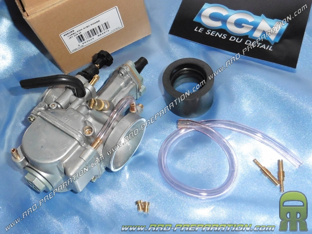Carburetor + sleeve PWK 24 flexible starter has lever without ...