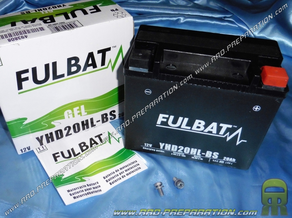batterie fulbat yhd20hl bs 12v 20ah gel sans entretien pour moto m caboite scooters www. Black Bedroom Furniture Sets. Home Design Ideas
