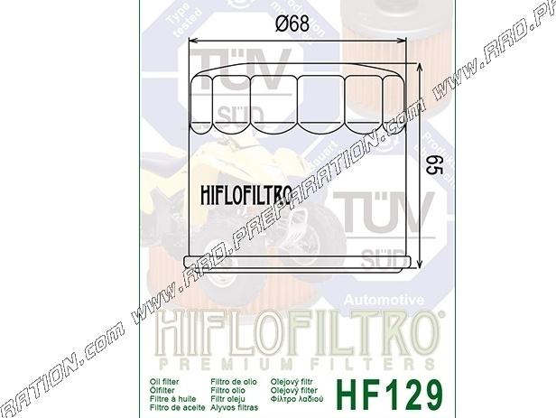 Oil filter HIFLO FILTRO for quad KAWASAKI KAF MULE DIESEL 950cc     from  2001 - www rrd-preparation com