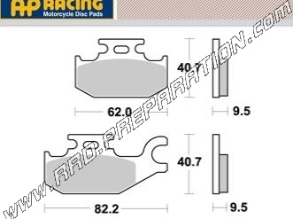 2001 Rear Brake Pads Traxter Footshift BOMBARDIER Front