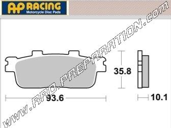 Ap Racing Rear Brake Pads For Scooter And Quad Daelim And Sector Sym Hd Evo Joyride Joy Max 125 200 250 Www Rrd Preparation Com