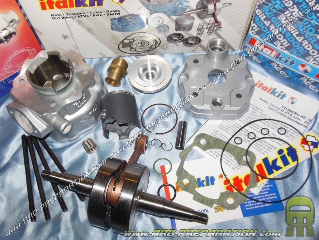 Pack Italkit Racing 90cc 50mm Mono Segment Crankshaft Stroke 44 90 Suzuki 50cc Engine Diagram 4490mm With Balancer Derbi Euro 1 2 Special Gpr