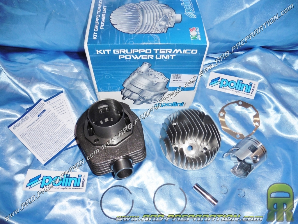 Kit high engine 177cc Ø63mm with cylinder head POLINI cast scooter VESPA  PX, TS 125 / 150cc 2 times - www rrd-preparation com