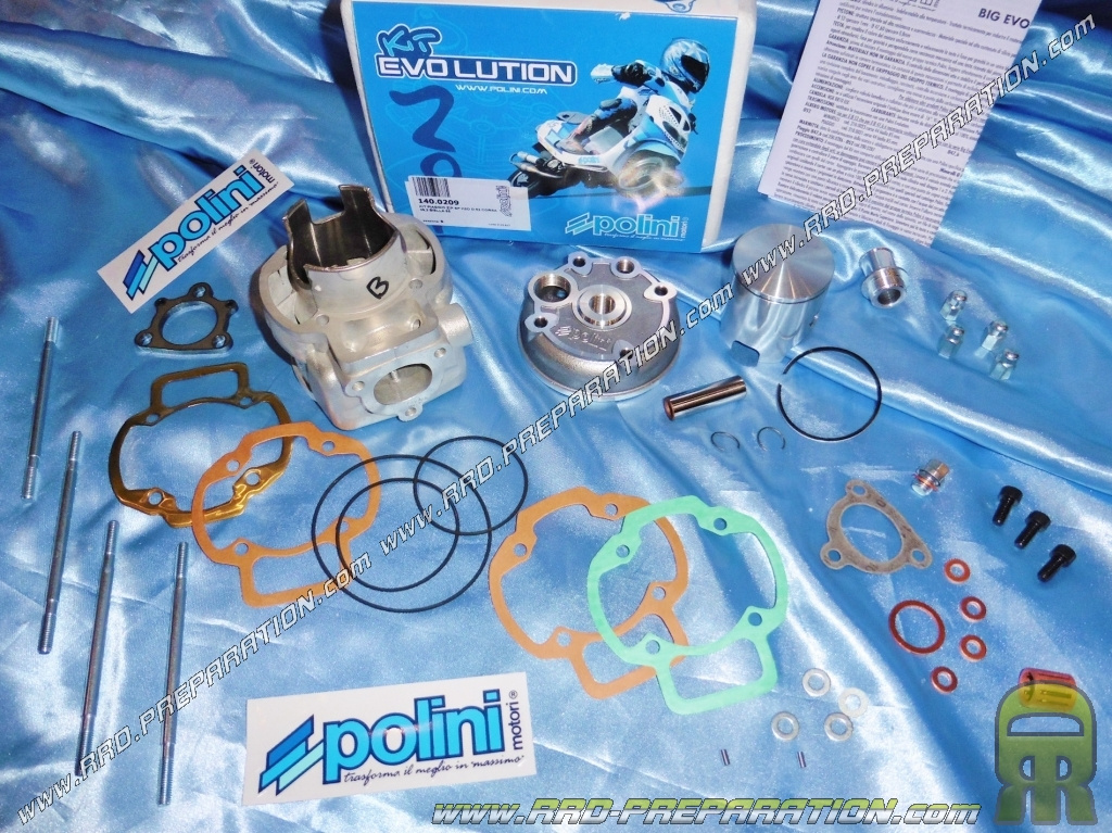 kit 80cc polini big evolution �52mm aluminum scooter piaggio liquid (nrg,  runner    )