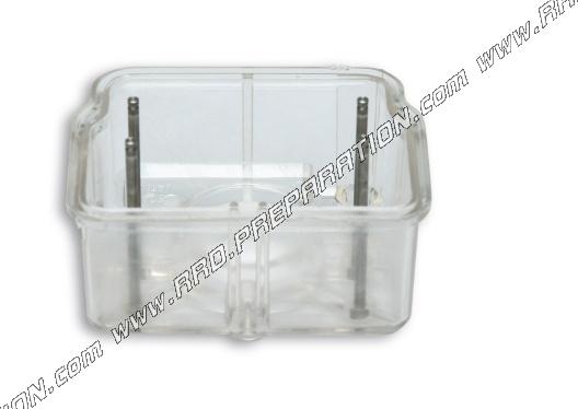 Transparent MALOSSI tank for carburettor DELLORTO PHM, PHF, PHB, PHBE -  www rrd-preparation com