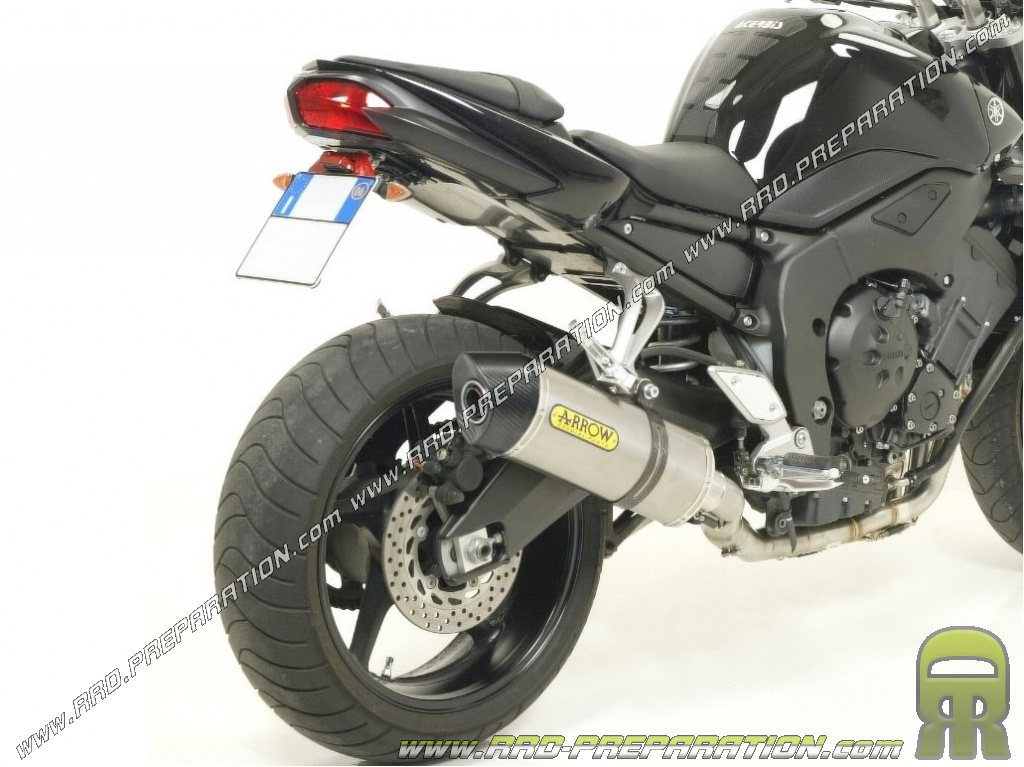 Exhaust Silencer With Arrow Maxi Race Tech Connection On Manifold Origine For Yamaha Fz1 Fazer 2006 To 2016