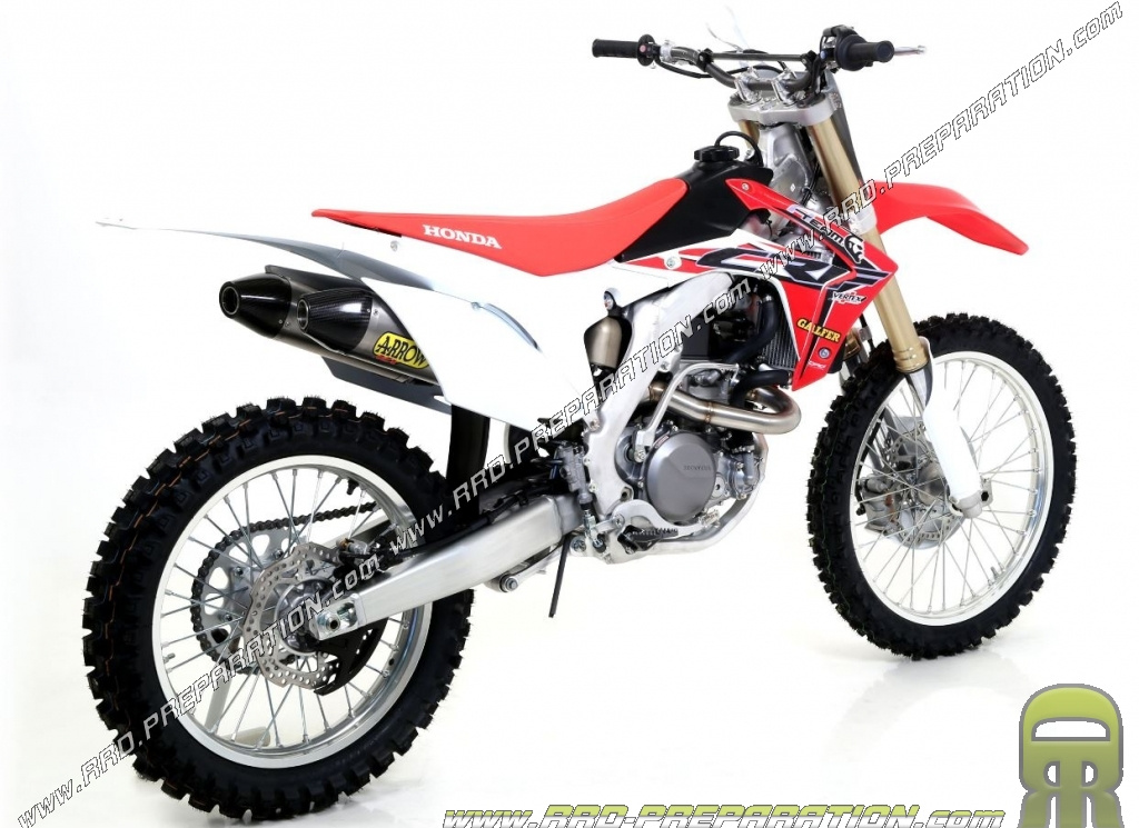 Arrow Off Road V2 Exhaust System For Honda Crf 450 R 2015