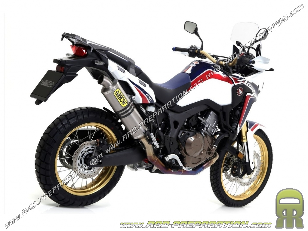 Complete Exhaust Arrow Competition Full Titanium For Honda Crf 1000l Africa Twin 2016 2017 Www Rrd Preparation Com