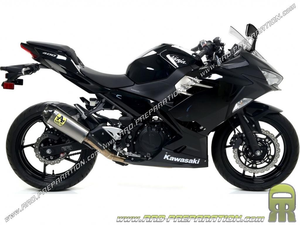 Complete exhaust system ARROW COMPETITION for Kawasaki Ninja 400 2018 -  www rrd-preparation com