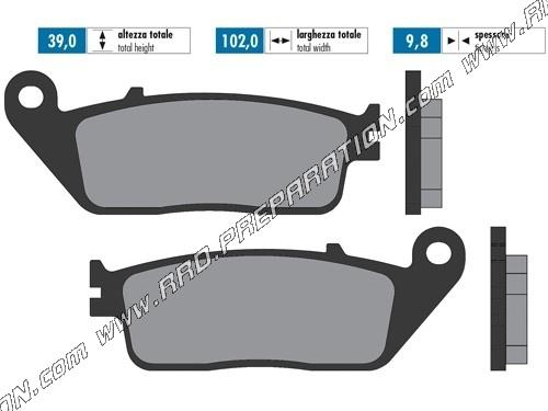 POLINI RACING scooter brake pads HONDA SH, FORZA, SILVERWING, KYMCO DINK,  CITING X, YAMAHA X MAX     125, 1500, 400     - www rrd-preparation com